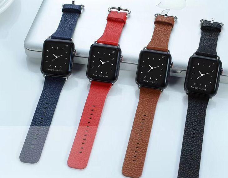Dây da vân sần Apple Watch COTEETCI