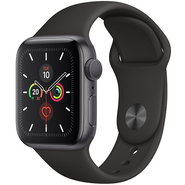Apple Watch S5 40mm MWV82 (GPS) Viền Nhôm Xám – Dây Đen