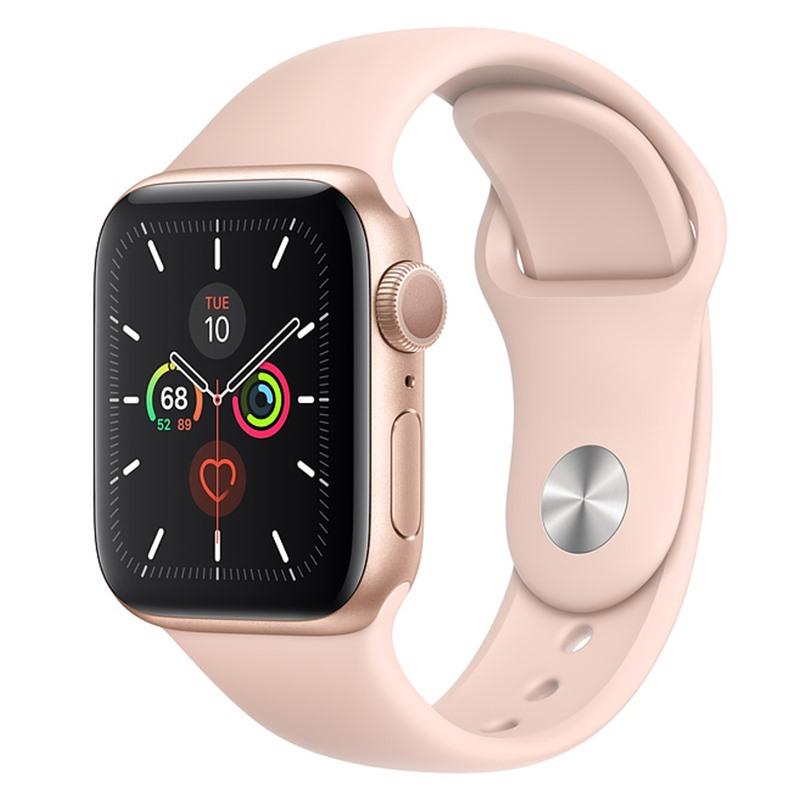 Apple Watch S5 44mm MWVE2 (GPS) Viền Nhôm Vàng – Dây Hồng