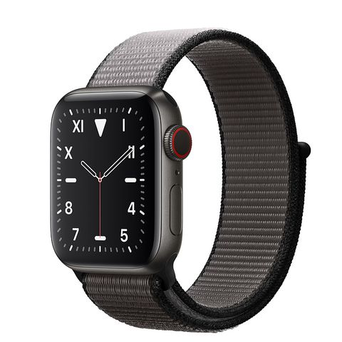 Apple Watch S5 44mm (LTE) Viền Titanium Đen – Dây Đen