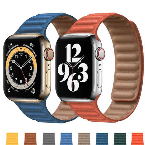 Dây da Apple Watch Leather Link – COTEETCI